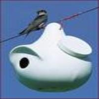 Attól függően milyen madárnak készül a ház, vájnak rajta megfelelő méretű lyukat.
