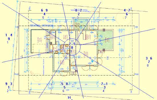 A ház helyének és homlokzatának meghatározása