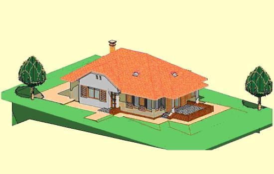 Az átalakítások után a ház külső formája és elosztása a környező beépítéshez, utcaképhez illeszkedő nemcsak esztétikus, hanem harmonikus és energetikailag kedvező lett a család számára.