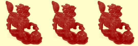Vannak kínai feng shui mesterek, akik három ún. Qi Lin szobrocska elhelyezését ajánlják.