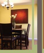 A kép elhelyezésénél ügyelj a színekre, a méret és forma ritmusára is.