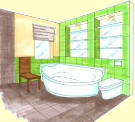 A Fa elem a fürdőszobában