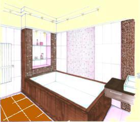 A Föld elem a fürdőszobában